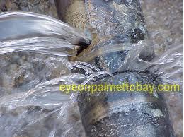 Water main break in Palmetto Bay